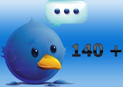Twitter ofrece mas de 140 caracteres
